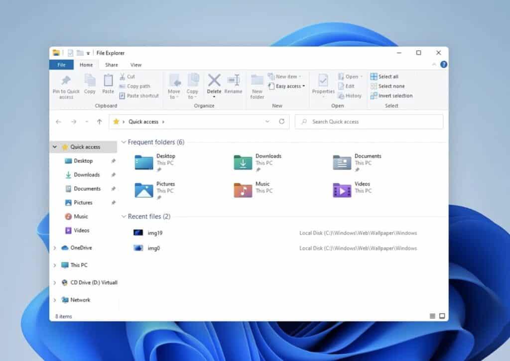 Windows 11 carpetas modificadas