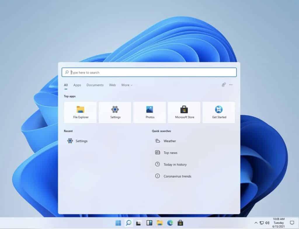 Windows 11 inicio