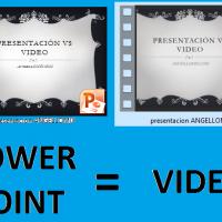 presentaciones de Power Point a video