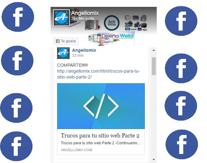 Insertar mi pagina de Facebook en mi sitio web
