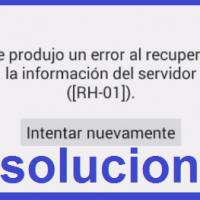 Se produjo un error al recuperar la información del servidor ([RH-01]) Play Store Android