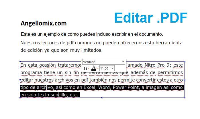 Editar archivos en PDF con  Nitro Pro 10