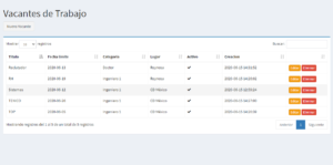 Sistema reclutador vacantes PHP 3