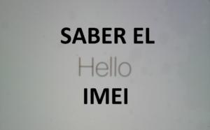 SABER EL IMEI DEL IPHONE O IPAD
