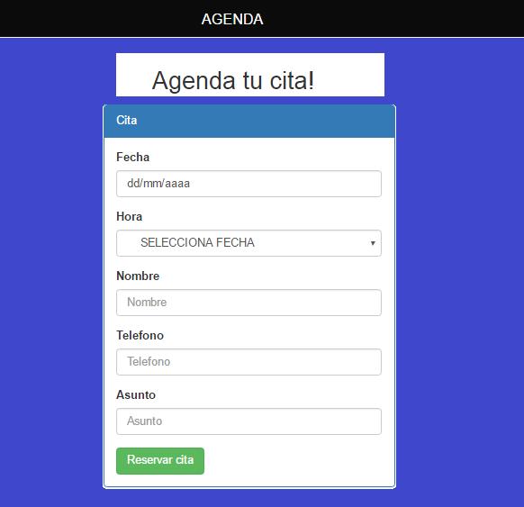 Sistema web para agendar citas