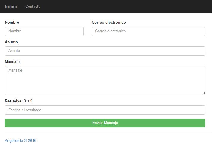 Sistema formulario de contacto con PHP y MySQL