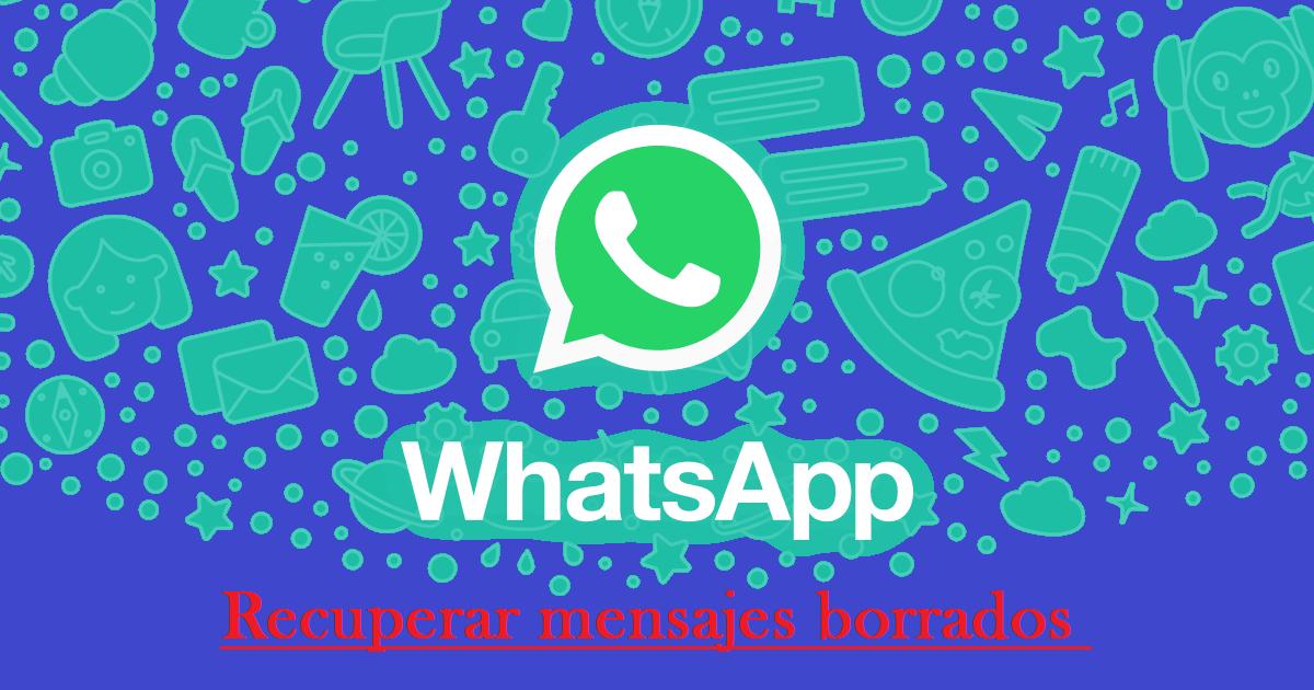WhatsApp: borraste tus mensajes sin querer. Así puedes recuperar todo