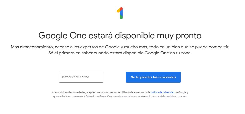 Google One; precios en la nube más baratos que en Drive