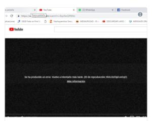 error en youtube este año