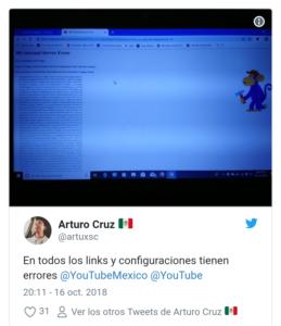 error de youtube 2020