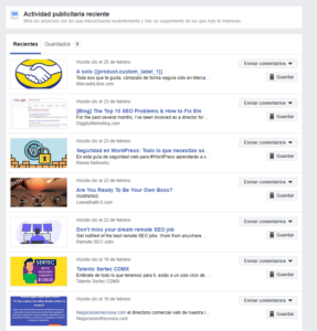 facebook anuncios ads