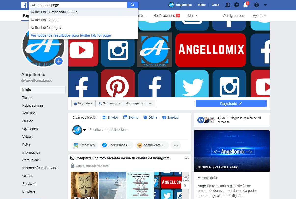 2 twiter en facebook