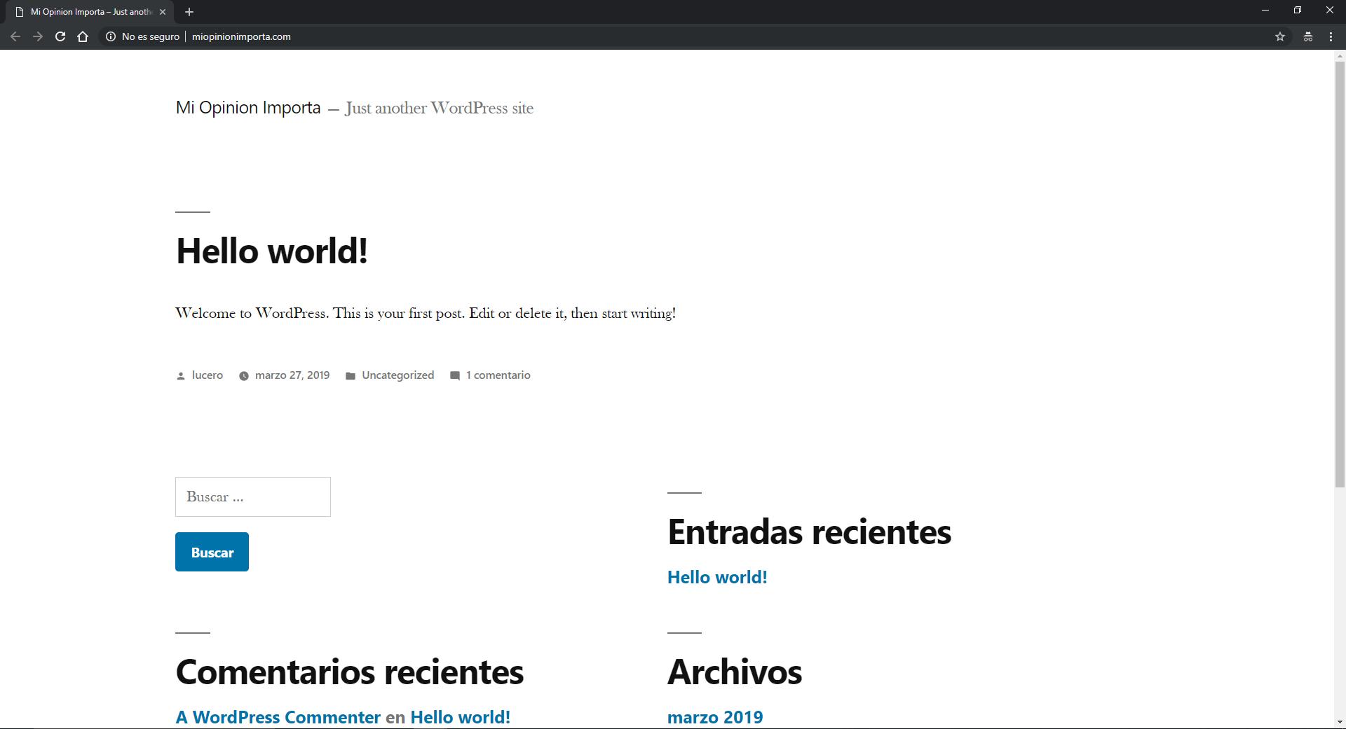 las entradas en wordpress