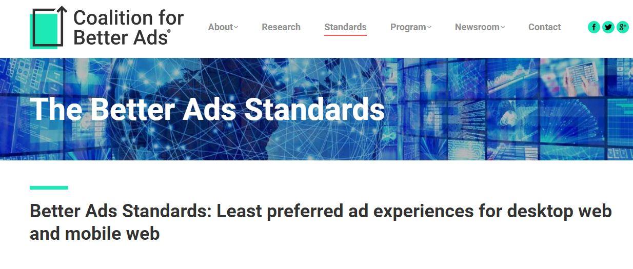 Los estándares Better Ads