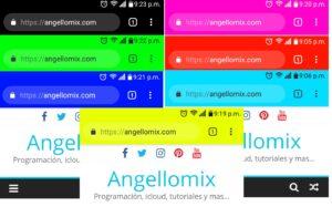cambiar el color de la barra de direcciones en tu sitio web