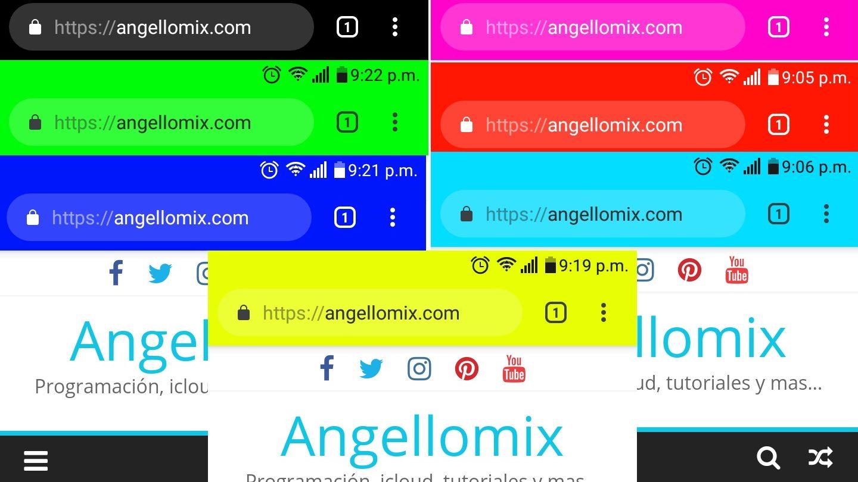 Colorear la barra de direcciones en tu sitio web