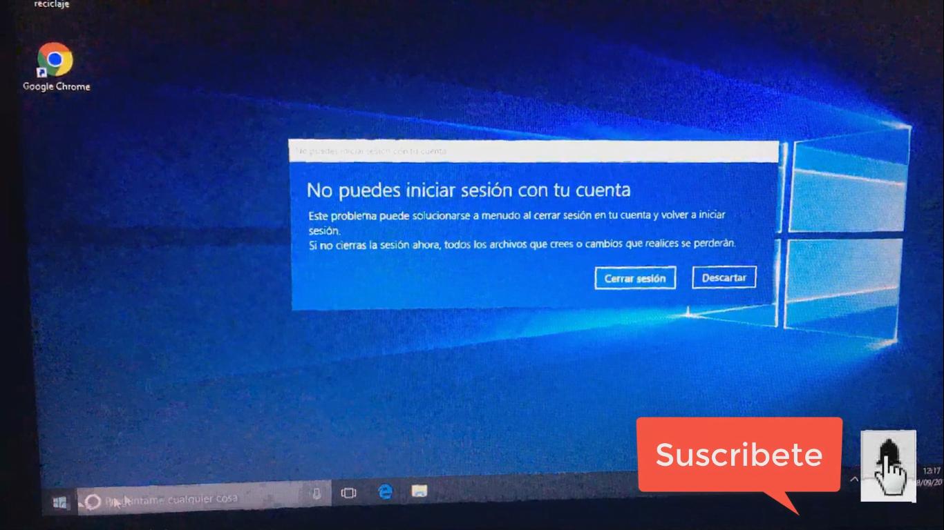 No puedes iniciar sesión con tu cuenta en Windows 10