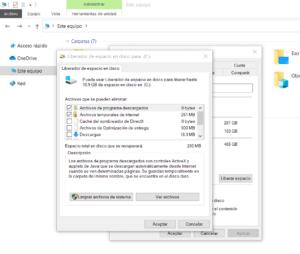 liberar espacio en disco sin programas eliminar archivos del sistema innecesarios