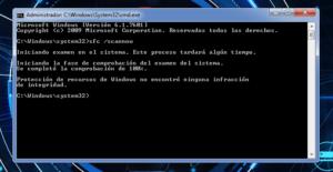 comprobador de archivos del sistema TODO LIMPIO