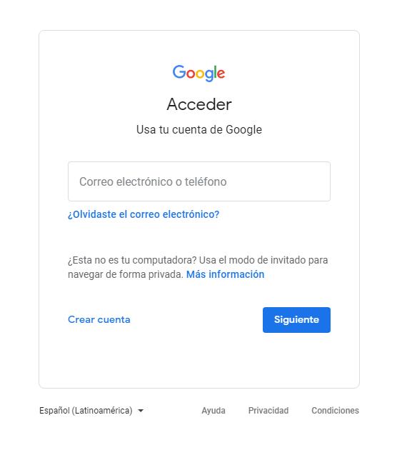 iniciar sesión en gmail correo nuevo