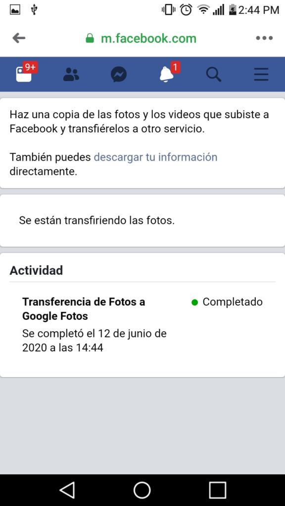 transferir fotos y videos de facebook a google fotos facil paso a paso