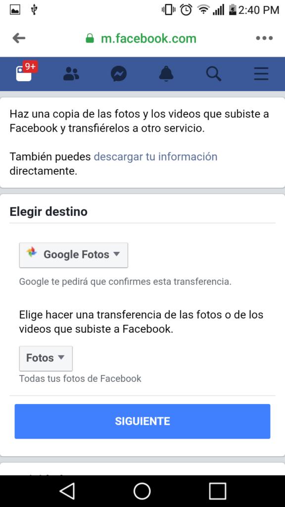 8 transferir fotos y videos de facebook a google fotos facil paso a paso
