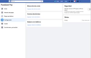agregar dirección de envió para tus compras con Facebook pay