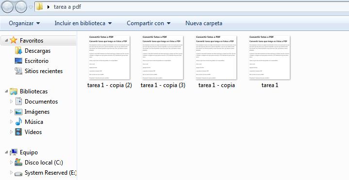 convertir tarea a pdf
