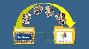 transferencia de todas las fotos y videos de facebook a mi cuenta de google fotos en un solo paso