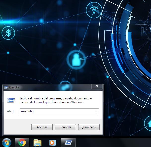 abrir msconfig en windows