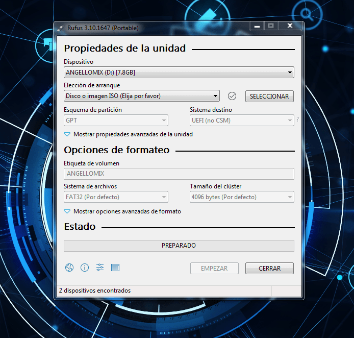 Como usar Rufus 3 para bootear un sistema operativo