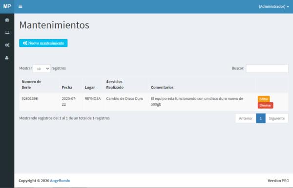 mantenimiento en pc cambio de disco con sistema online mantenimientos