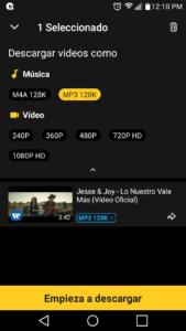 snaptube 2020 descarga vídeos en formato mp3 rápido