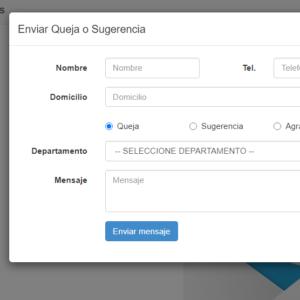 buzon de quejas en linea sistema mensajes por areas quejas sugerencias y gracias