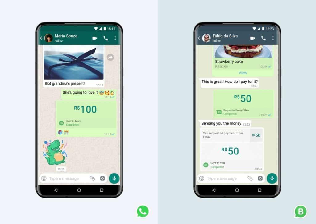 pago recibido en nuestro WhatsApp normal o WhatsApp business