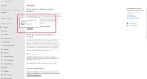 Desactiva ubicación en aplicaciones de Windows 10