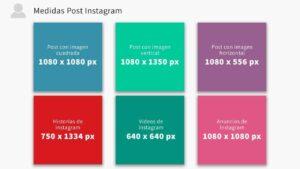 medidas para publicaciones en Instagram actual