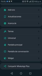 WhatsApp ultima versión 13.50 ajustes plus